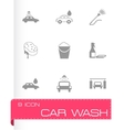 black car wash icons set vector image vector image