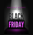 black friday coming soon poster template vector image vector image