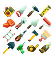 builders icons 2 vector image vector image