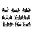 businessman business meeting conference and vector image