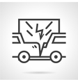 Car insurance sign line icon vector image vector image