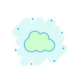 cartoon cloud icon in comic style cloud pictogram vector image vector image