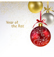 christmas balls with symbol year a vector image vector image
