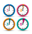 clock icons set time symbol vector image vector image