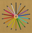 colored pencils that fan circle vector image