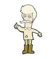 comic cartoon old man in poor clothes vector image vector image