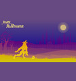 dark night a werewolf howling at the moon on vector image