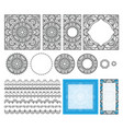 decorative square pattern set frames brushes vector image vector image