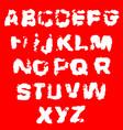 distressed grunge alphabet stamp ink font vector image vector image