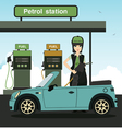 Employees refueling vector image vector image