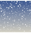 fuzzy snowflakes fallig vector image