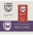 Gaming console controller logo logotype icon vector image