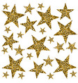 gold stars on white background vector image vector image