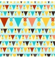 Happy Birthday party seamless pattern with vector image