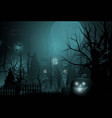 happy halloween background and scary tree pumpkin vector image vector image