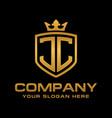 jc logo vector image vector image