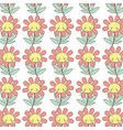 kawaii angry flower plant expression background vector image vector image