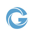letter g blue icon vector image vector image