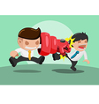 Man iron punch Attack Strong vector image vector image