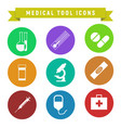 medical tool icons vector image vector image