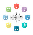 music notes icon in flat style isolated on vector image vector image