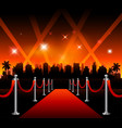 now showing theater movie banner sign vector image