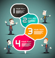 Paper Infographic Layout with Business People vector image vector image