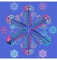 pastel snowflake vector image vector image