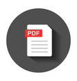 pdf document note icon in flat style paper sheet vector image vector image
