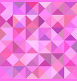 pink triangle mosaic pattern background - graphic vector image vector image