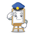 police easel character cartoon style vector image