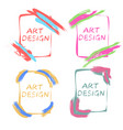 pop art design frames for an gallery art studio vector image