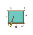 project chart office icon design vector image vector image