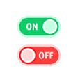 red and green on and off switches vector image vector image