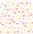 repeated hearts drawn by hand cute seamless vector image vector image