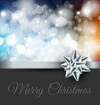 Retro christmas label on blurred background vector image