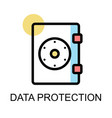 safe icon for data protection on white background vector image vector image