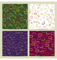 seamless patterns set collection of vector image vector image