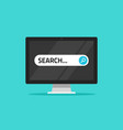 search on computer flat vector image vector image