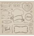 Set of labels ribbons frames for coffe menu vector image vector image