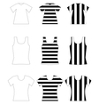 Set of vest shirts vector image