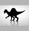 silhouette of a spinosaurus vector image vector image