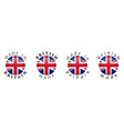 simple made in britain british 3d button sign vector image vector image