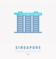 singapore landmark thin line icon vector image