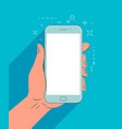 smartphone in hand mobile app vector image vector image