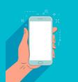 smartphone in hand mobile app vector image