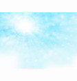 summer of sun shine with glitters on blue sky vector image vector image