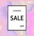 summer sale template designed on holographic vector image vector image