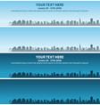 tel aviv skyline event banner vector image vector image