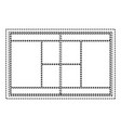 tennis field court grass grid top view vector image